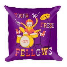 This soft pillow is an excellent addition that gives character (Tad from the Young Fresh Fellows, to be specific) to any space. It comes with a soft polyester insert that will retain its shape afte…