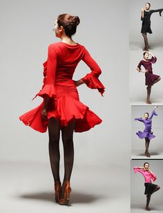 Click to view larger image              Have one to sell? Sell it yourself         Latin salsa tango rumba Cha cha ballroom dance dress dance top skirt costume