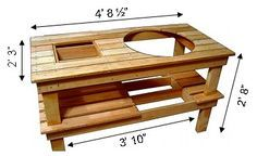 Big Green Egg Table Plans | Big Green Egg Table Plan.