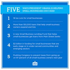 Don't let Mitt Romney get away with twisting the President's words. Share this list to get the facts out about President Obama's strong record of supporting our country's small businesses.