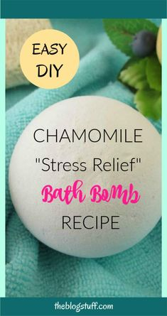 Natural homemade bath bomb recipe with chamomile for stress relief. Natural homemade bath bomb recipe with chamomile for stress relief. Making Bath Bombs, Lush Bath Bombs, Diy Bath Bombs, Natural Bath Bombs, Shower Bombs, Chamomile Recipes, Essential Oil Bath Bombs, Essential Oils, Galaxy Bath Bombs