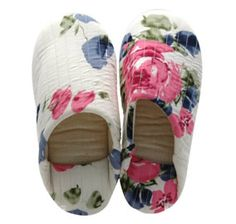 Peony printed room shoes