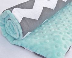Large Baby Changing Pad in Grey and White by PaisleyandThyme, $19.50