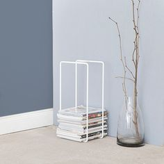 47 euro - H56x26 cm - Magazine Rack - White - alt_image_three
