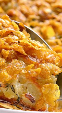 Garlic & Herb Cheesy Potatoes.