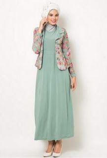 Koleksi baju muslim jersey motif wanita gaya busana muslim d0e51e35c1