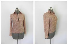 1970s Cacharel Cotton Blouse Calico Print Button by rileybella123, $29.00