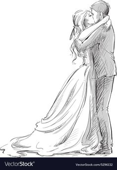 Wedding drawing ideas vector art wedding couple kiss newlywed vector sketch architectures of india Drawing Poses, Drawing Sketches, Art Drawings, Pencil Drawings, Sketch Art, Drawing Art, Drawing Tips, Love Sketch, Drawing Ideas