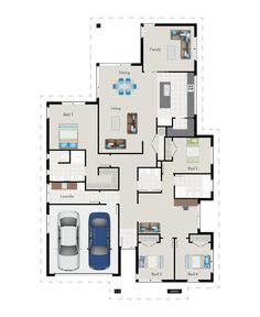 Floor plan of our custom designed G.J. showhome in Cambridge! Featuring plenty of space for the whole family.