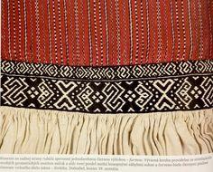 Slovak Folk Embroidery; Dubodiel, Trencin