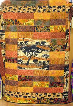 AFRICAN INFLUENCED DESIGN QUILT.............PC
