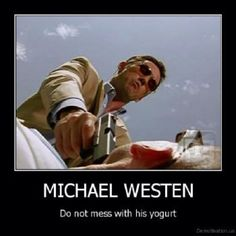 Don't mess with his yogurt!