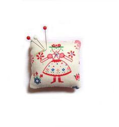 cute danish fabric pin cushion
