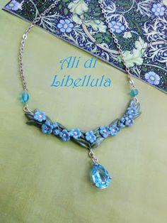 "Ali di Libellula: COLLIER ""FORGET ME NOT"""
