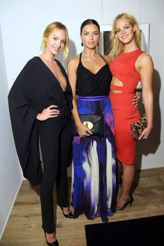 "Candice Swanepoel, Adriana Lima and Erin Heatherton attend Russell James' ""Angel"" book launch hosted by Victoria's Secret on September 2014 in New York City. London Fashion Weeks, Erin Heatherton, London Look, African Models, Vs Models, Fashion Articles, Victoria Secret Angels, Victorias Secret Models, Candice Swanepoel"