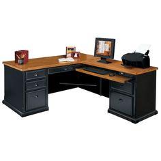 Realspace® Broadstreet Contoured U-Shaped Desk, 30