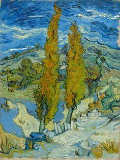 Van Gogh, i pioppi a Saint-Rémy, 1889. Olio su tela, 61.6 x 45.7 cm. The Cleveland Museum of Art, Cleveland.