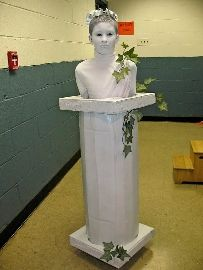 Roman Statue Costume  - ha!  OK, not a serious idea for vbs, but that is too funny!