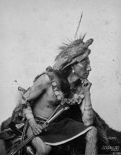 Photograph of a Sioux Indian, circa 1900.