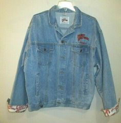 Long Sleeve Button front Jean Jackets Gap 2XL,XL,L,M,Med Indigo Floral Embroider