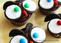 Owl Oreo Cupcakes Recipe Video Tutorial