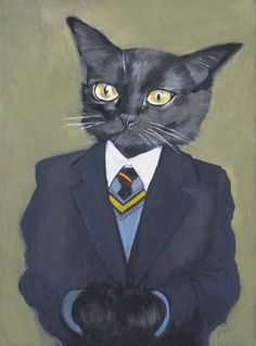 Cats in Clothes Prints