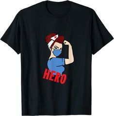 Amazon.com: Hero nurse strong women T-Shirt: Clothing Amazon T Shirt, Amazon Merch, Cool, Branded T Shirts, Strong Women, Fashion Brands, Hero, T Shirts For Women, This Or That Questions