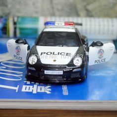 (5pcs/pack) KT 1/36 Scale Car Model Toys 2010 P-0rsche 911 GT3 RS Police Edition Diecast Metal Pull Back Car Toy