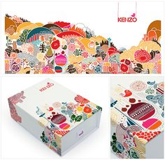 the Christmas Kenzo Perfume box designed by Cosfibel Group