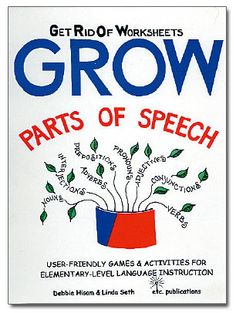 GROW – GET RID OF WORKSHEETS – Parts of Speech - Janelle Publications - Creative Speech and Language Materials