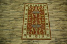 Handmade Geometric Rust Color! 5x8 Oushak Kazak Oriental Area Rug Wool Carpet #HandTufted #TraditionalPersianOriental