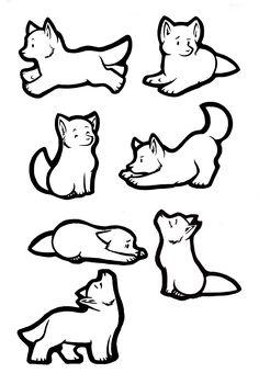 Sticker Wolves Lineart by akireru jpg 3053×4404 Cute wolf drawings Wolf drawing Wolf howling drawing