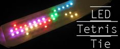#LED Tetris Tie - you can actually play the game on this #tie.