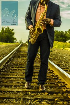 Saxophone on a train track. #photoshopfilter