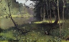 Forest River  Dubovskoy, Nikolay Nikanorovich  Painting Reproductions