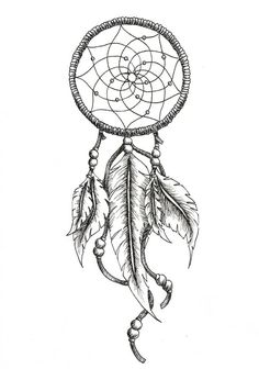 dream catcher tattoo drawing