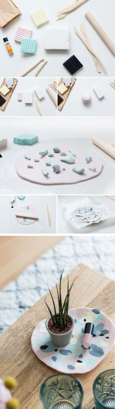 Try this quick and easy polymer clay technique to make this coffee table tray!