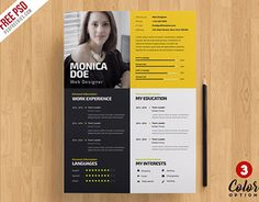 """Check out new work on my @Behance portfolio: """"Creative Resume Template PSD Bundle"""" http://be.net/gallery/59137267/Creative-Resume-Template-PSD-Bundle"""
