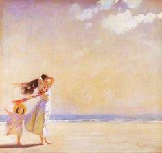 Laura Knight (1877-1970) Untrodden Sand