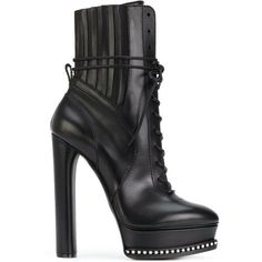 Casadei City Rock platform ankle boots (4.660 RON) ❤ liked on Polyvore featuring shoes, boots, ankle booties, sapatos, scarpe, black, black laced booties, black bootie, black platform booties and black ankle booties