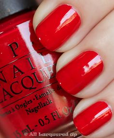 Nothing beats a well manicured, red nail.