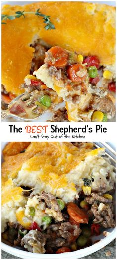 Shepherd's Pie   Can't Stay Out of the Kitchen   the BEST #Shepherd'sPie ever! Love this recipe. #beef #glutenfree #potatoes #Italiansausage
