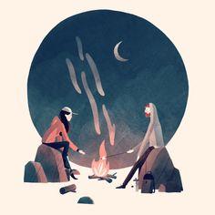 La aventura está servida en las bonitas ilustraciones de Jarom Vogel.