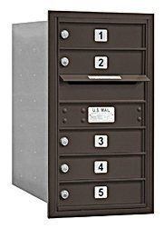 4C Horizontal Mailbox - 7 Door High Unit (27 Inches) - Single Column - 5 MB1 Doors - Bronze - Rear Loading - Private Access by Salsbury Industries. $281.86. 4C Horizontal Mailbox - 7 Door High Unit (27 Inches) - Single Column - 5 MB1 Doors - Bronze - Rear Loading - Private Access - Salsbury Industries - 820996412607