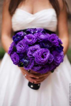 Wedding bouquet / Купить Свадебный букет невесты из живых цветов Фиолетовый - свадебный букет невесты, свадебный декор