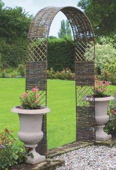 Garden arch...Just an idea..an arch with pots beside it...