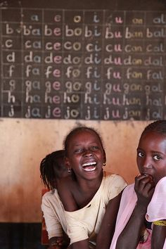 This is a school in Niamey, Niger. Unlike these children, many in Niger do not have the opportunity or resources to study in elementary school.