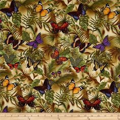 Designed for Timeless Treasures Fabrics, Inc., this cotton print fabric is perfect for quilting, apparel, crafts and home décor accents. Colors include melon, purple, dark red, olive, cream and brown.