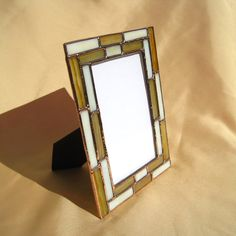 Yellow Brick Road Stained Glass 4 x 6 Picture Frame Stained Glass Frames, Stained Glass Night Lights, Stained Glass Projects, Stained Glass Patterns, Mosaic Glass, Fused Glass, Clear Glass, Glass Art, Glass Texture