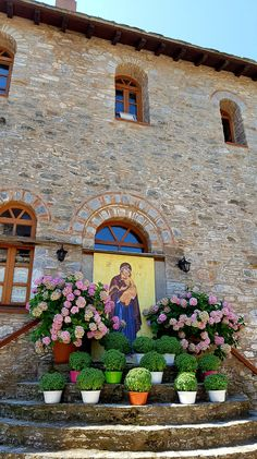 Skiathos Island, Home Altar, Ceramic Pots, Iglesias, Blessed Mother, Byzantine, Flower Pots, The Good Place, Greece